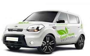 Typical Green Home Solutions Van Before Branding Modification